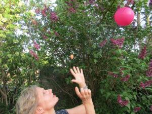 Luftballon in Luft-loslassen