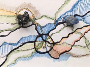 drei Heilsteine in Neurographik